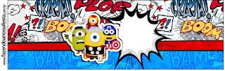 Etiquetas para Imprimir Gratis de Minions Super Héroes.