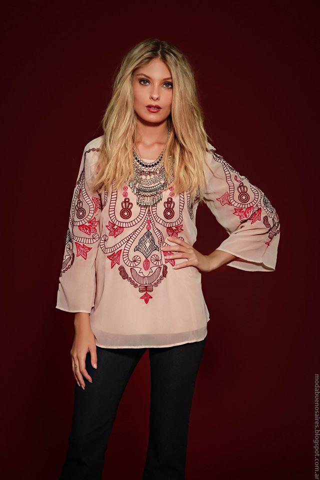Túnicas de moda bordadas invierno 2016 ropa de mujer Sophya.