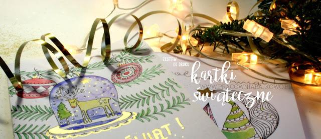 Kartki świąteczne do wydrukowania BOŻENARODZENIE