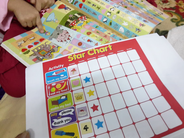 Projek Untuk Anak Star Chart, Behavior Chart, Potty Chart dan Tampal Stiker