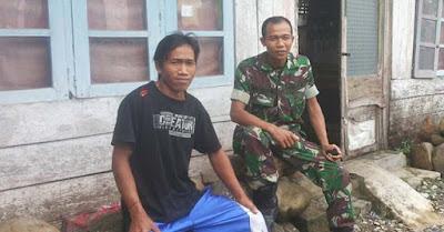 '' Maturnuwun, Gubug Saya Akan Direhab Pak Tentara''