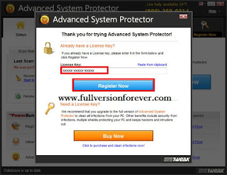 Advanced system protector 2.1 License key 2015 Latest for Windows