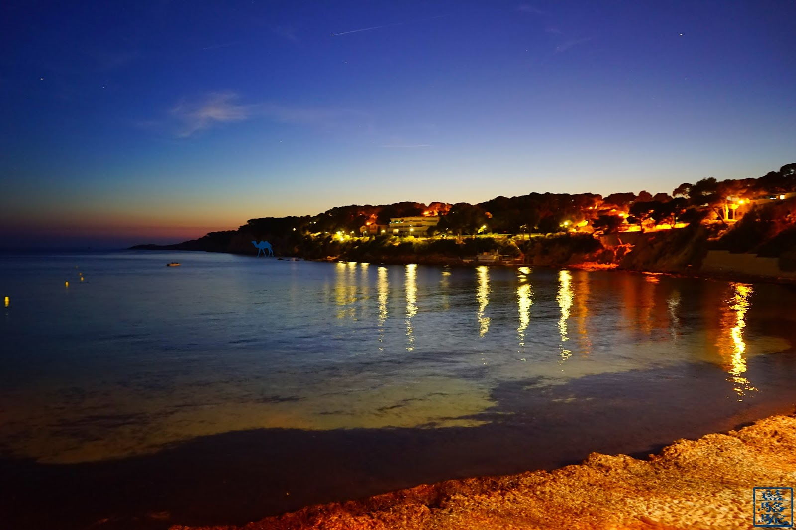 Le Chameau Bleu - Plage de portissol by night