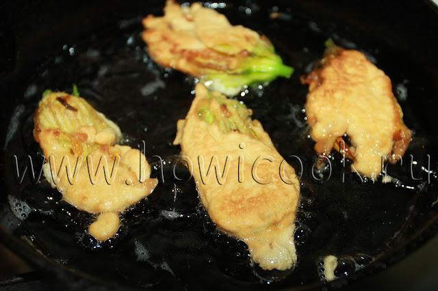 рецепт кабачковых цветов в кляре с пошаговыми фото