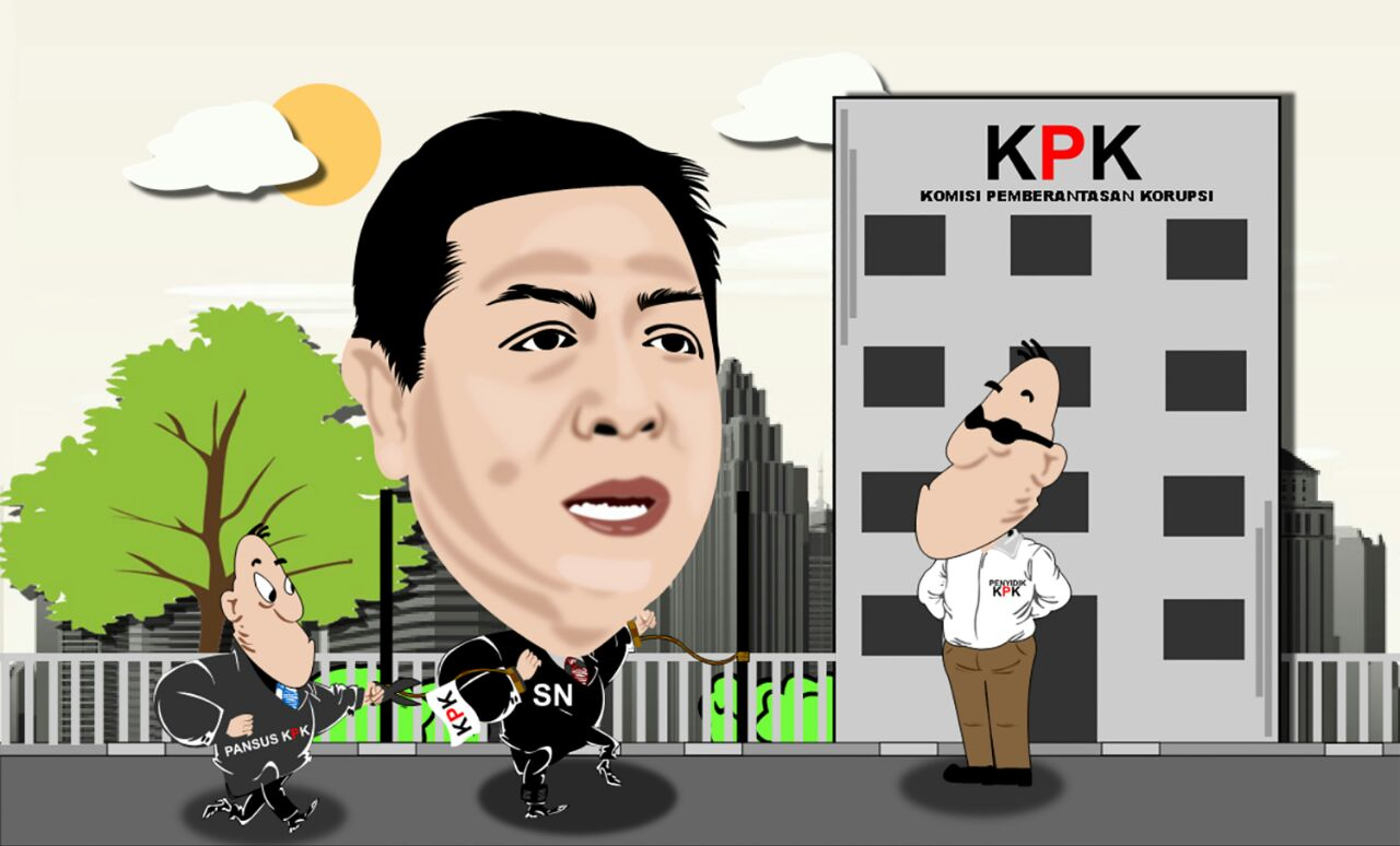 Karikatur Antara KPK Dan Pansus Hak Angket DPR RI Bela Papa