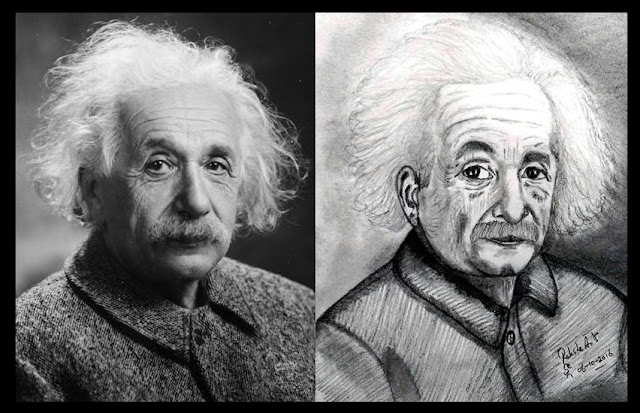 PENCIL DRAWING - Albert Einstein