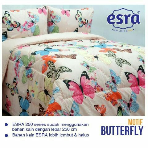 jual sprei Butterfly Pink Esra murah