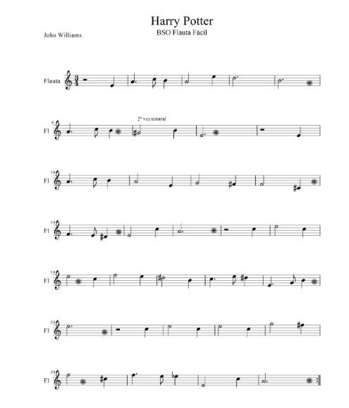 Banda Sonora - Harry Potter (John Williams) partitura