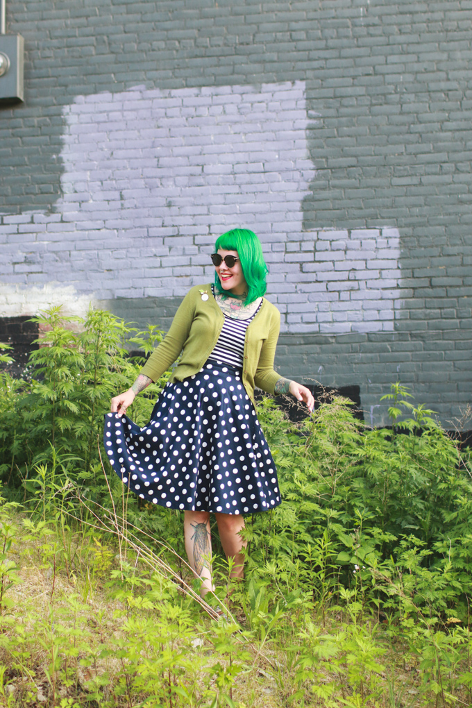 Cleveland Fashion Blog, Kaylah Doolan, green hair, what I wore