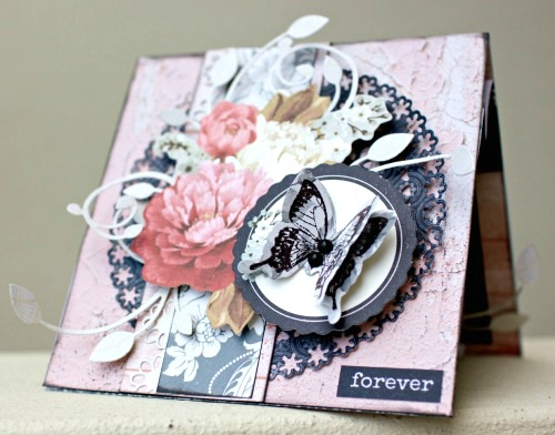 "Engagement Card using Kaisercraft ""Ma Cherie"""