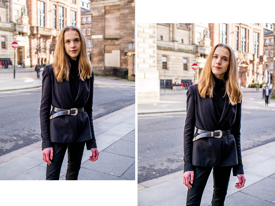 All black outfit inspiration with blazer and belt - Kokomusta asu bleiserin ja vyön kanssa, muoti, muotiblogi, bloggaaja