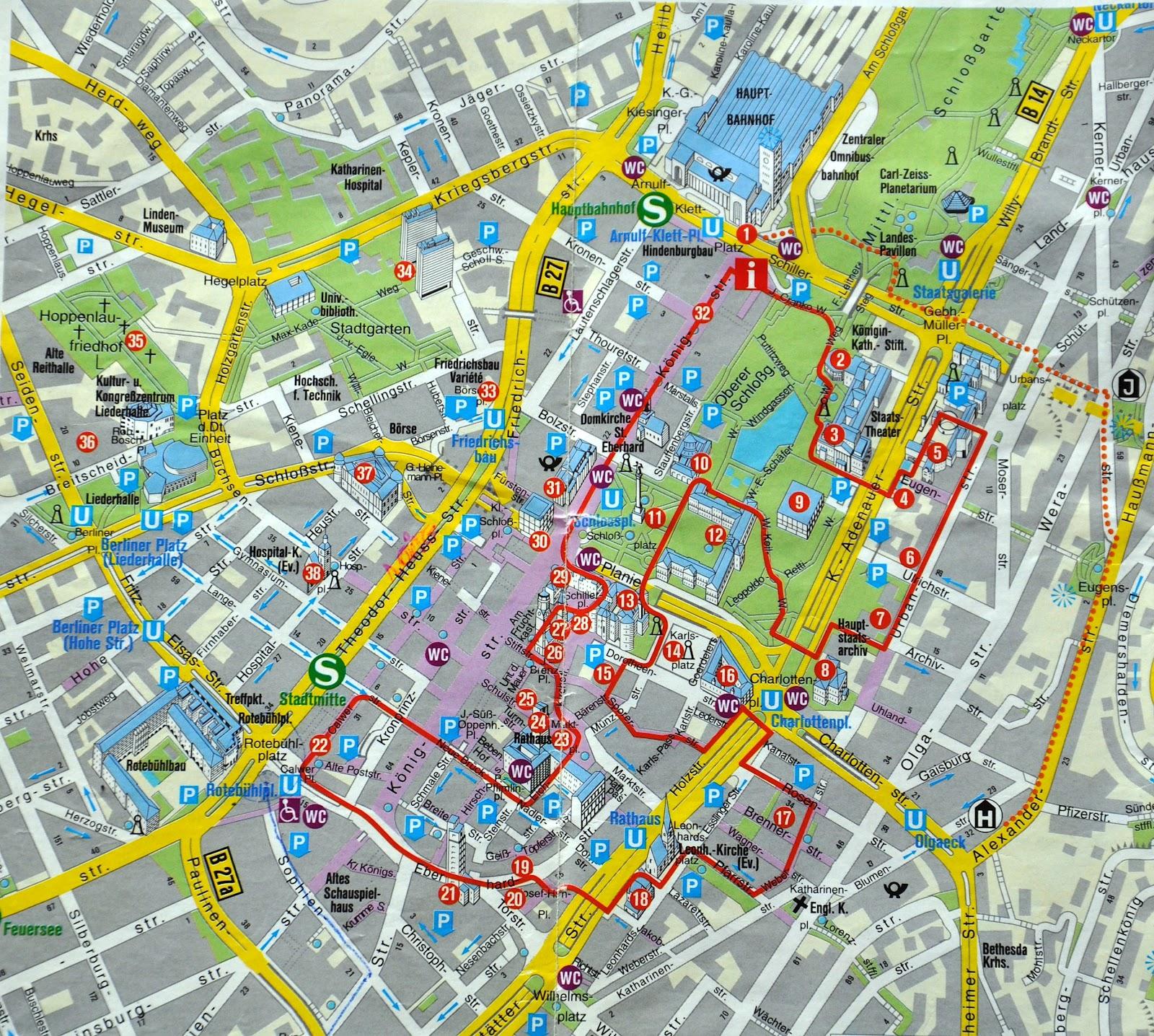 mapa de estugarda NOSSAS VIAGENS: Stuttgart   Alemanha   Schloßgarten III mapa de estugarda