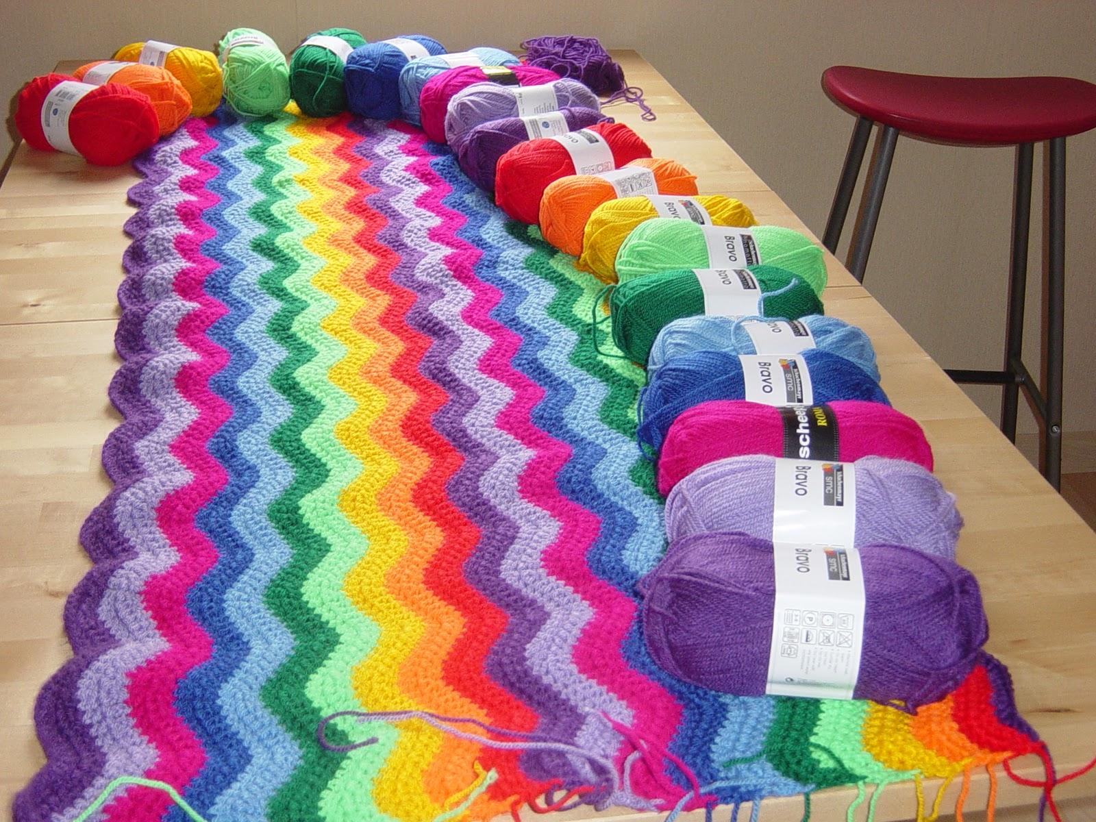 Spelen Met Kleurige Draadjes De Regenboog Deken