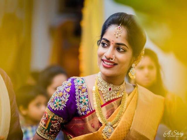 Bride in Gold Swirls Haram