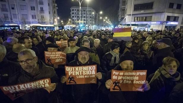 """Jubilados: """"No a la imposición del euskera"""""""