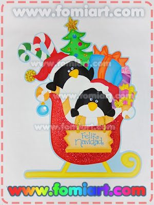Decoración en foamy,navidad, regalos de santa