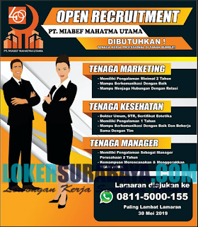 Open Recruitment PT. Miabef Mahatma Utama Terbaru April 2019