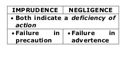 criminal imprudence and negligence