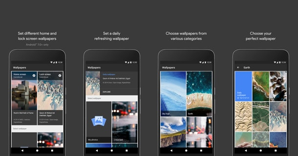 اجعل هاتفك يقوم بتغير الخلفية يوميا بشكل تلقائى Google Wallpapers