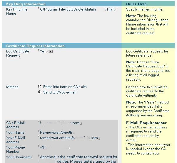 Rameshwar Amruth: How To Renew SSL Certificate In Lotus
