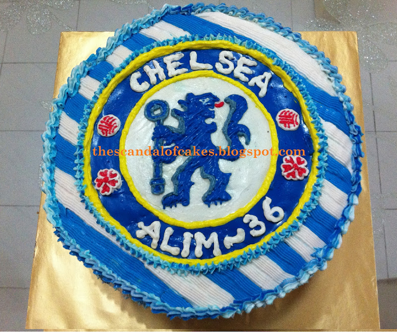 Chelsea Birthday Cake The Scandal Of Cakes