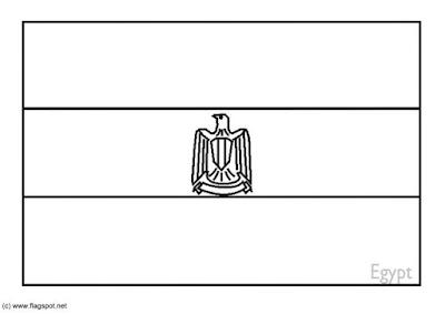colorear Bandera Egipto