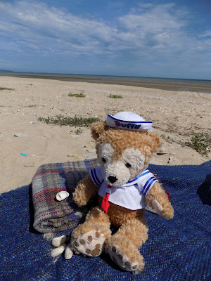 Duffy on the beach in Normandy