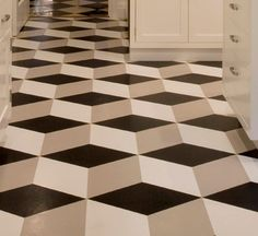 3D bathroom floor. vinyl flooring options