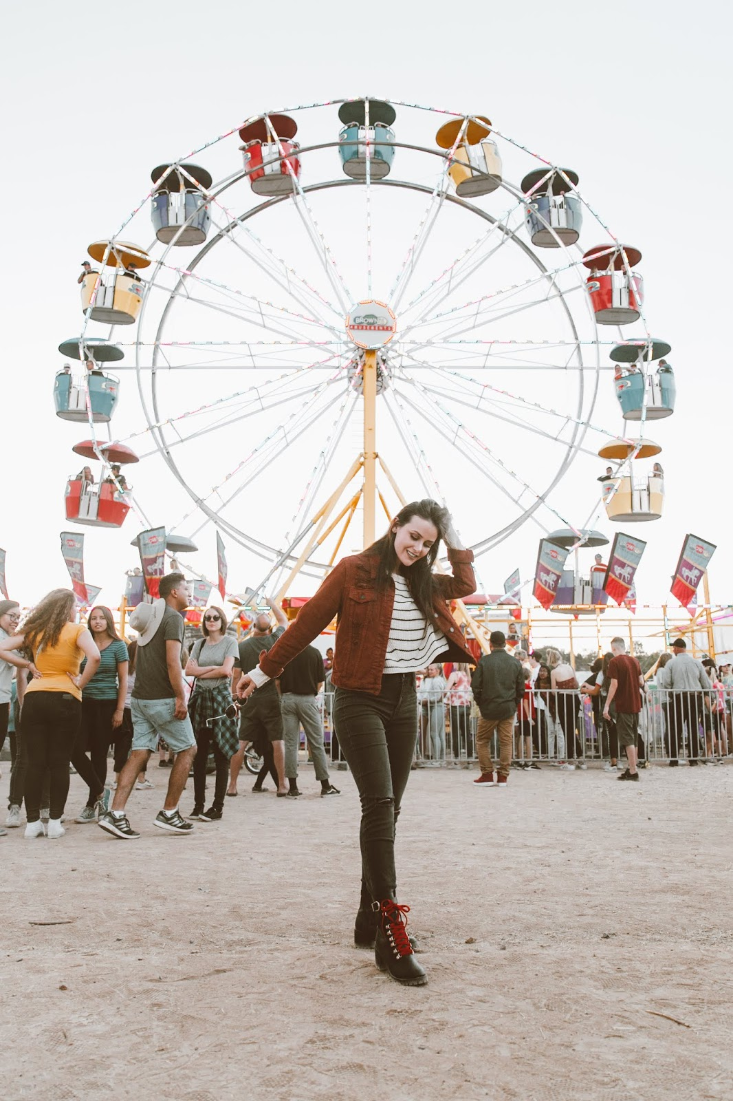 Shelly Stuckman, Yavapai County Fair, fall style 2018, Charlotte Russe, Ferris wheel, ArizonaGirl.com
