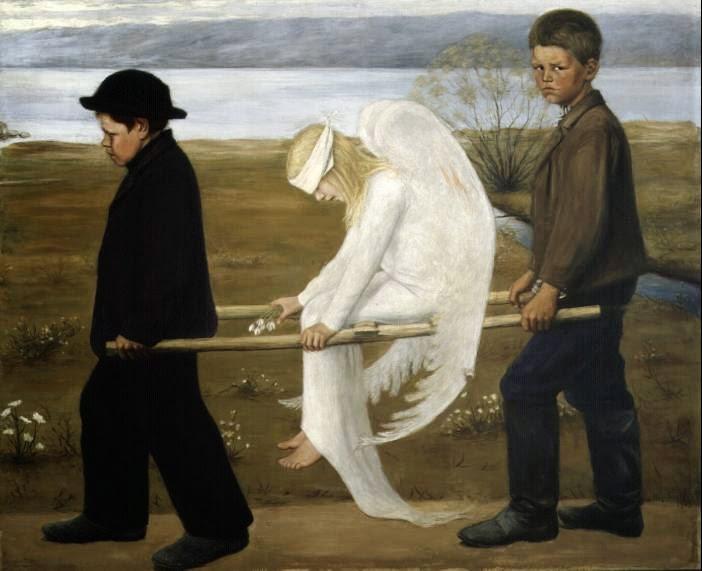 O Anjo Ferido - Hugo Simberg e seus simbolismos ~ O artista ansiava por solidão e paz