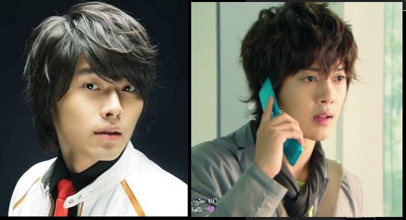 model rambut pria korea lonjong panjang bangs