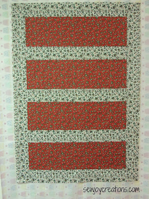 quilt top Christmas quilt