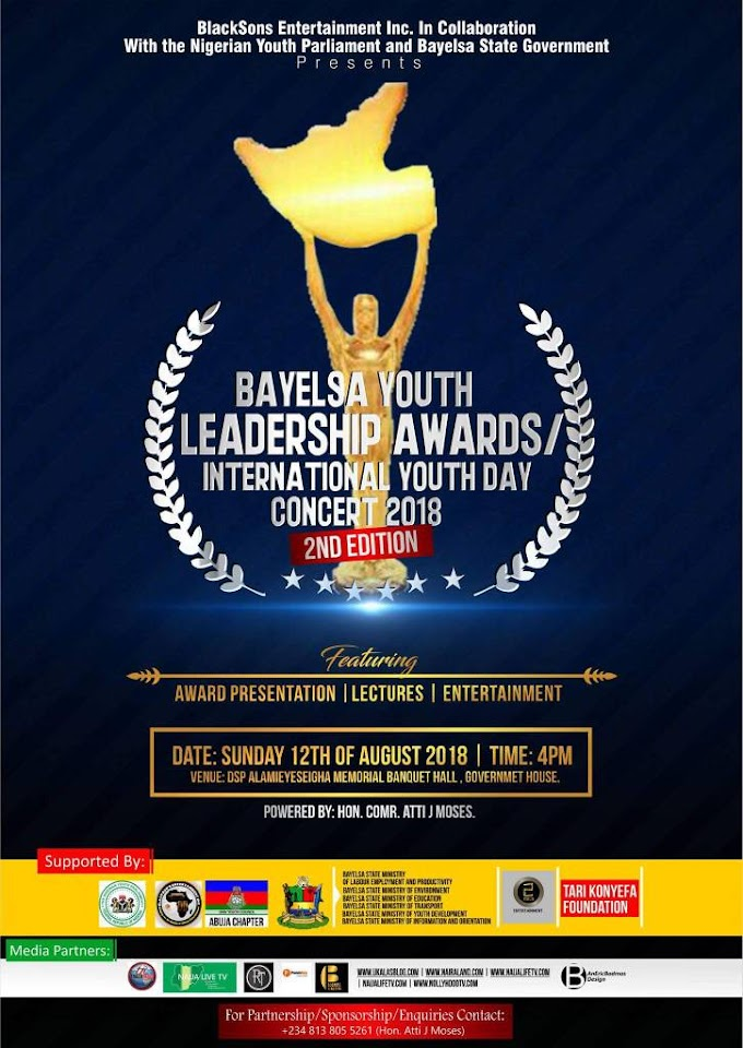 Bayelsa Youth Leadership Awards/International Youth day Concert 2018 (2nd edition )