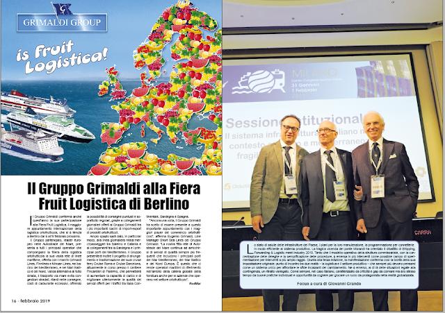 FEBBRAIO 2019 PAG. 16 - Il Gruppo Grimaldi alla Fiera Fruit Logistica di Berlino