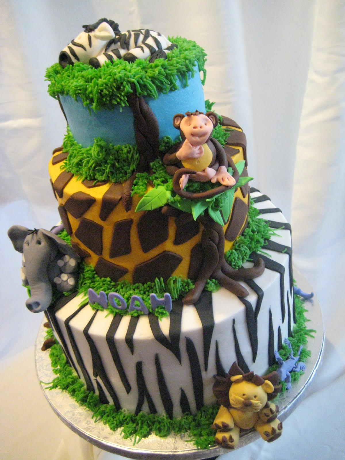 Fondant Jungle Animal Cake Toppers