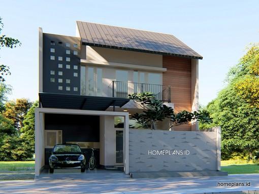 a Desain Rumah Kontemporer 9x10 kode 174