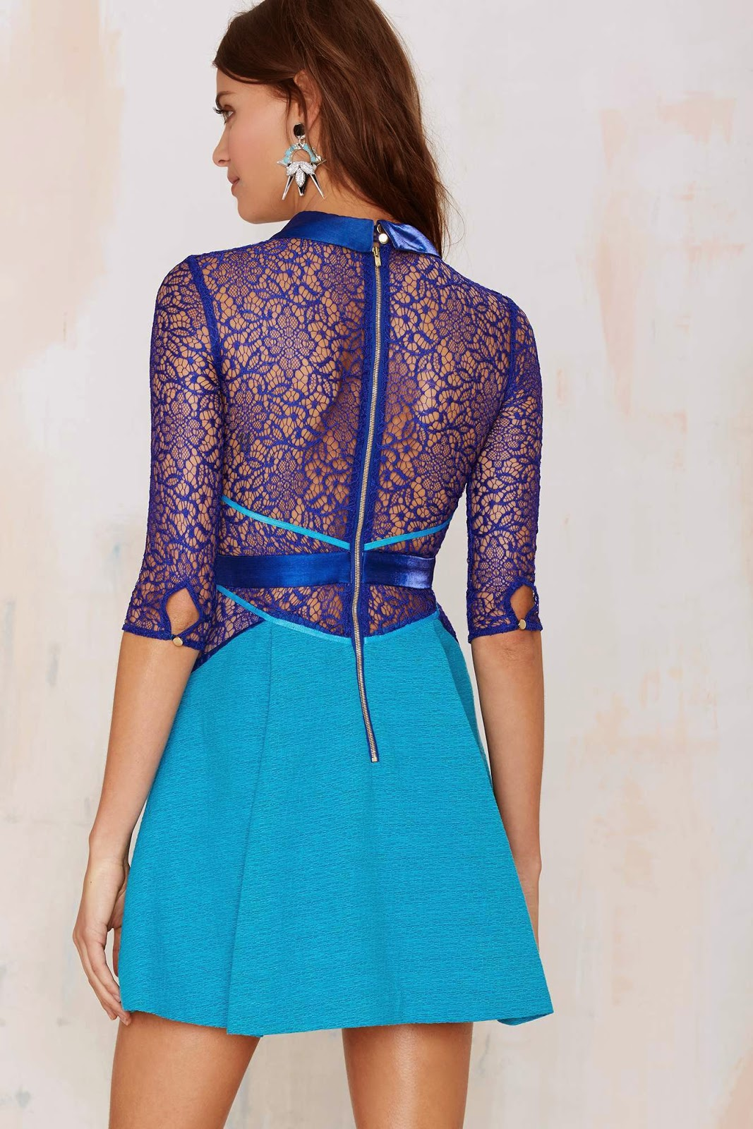 Style Know Hows Three Floor Lace Vision Fit Amp Flare Dress