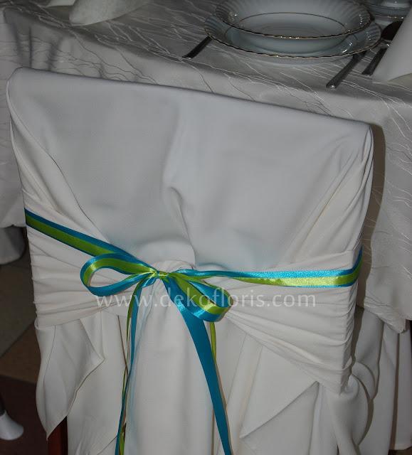 wesele - dekoracja krzeseł kokardy