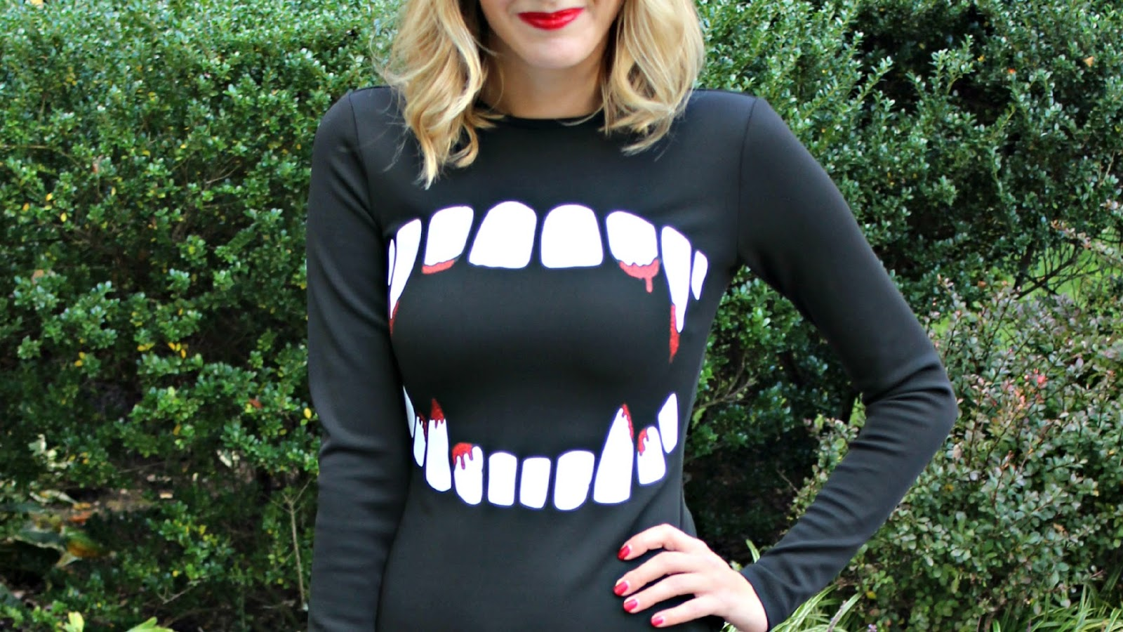 vampire teeth dress