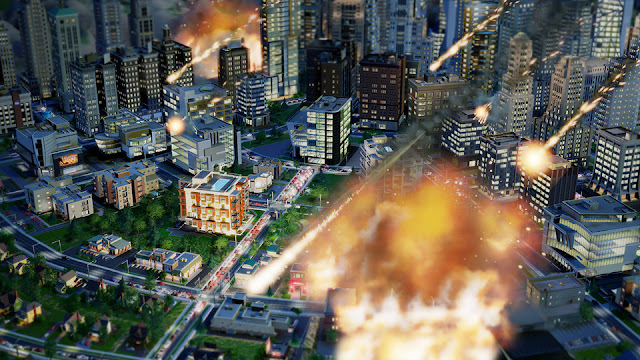 SimCity, Electronic Arts, EA, Maxis, meteors, disasters