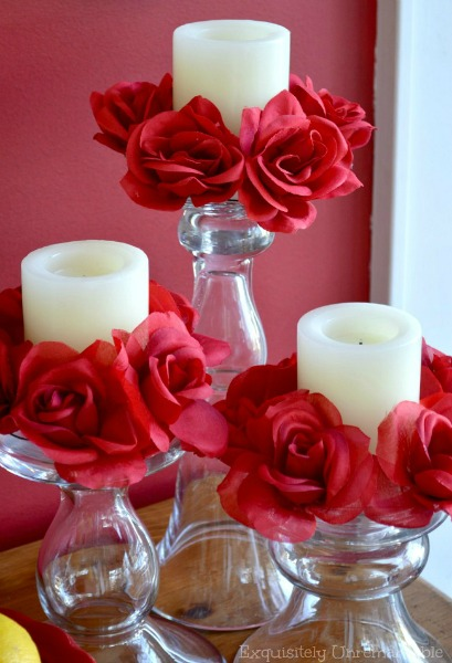 how to make floral candle rings