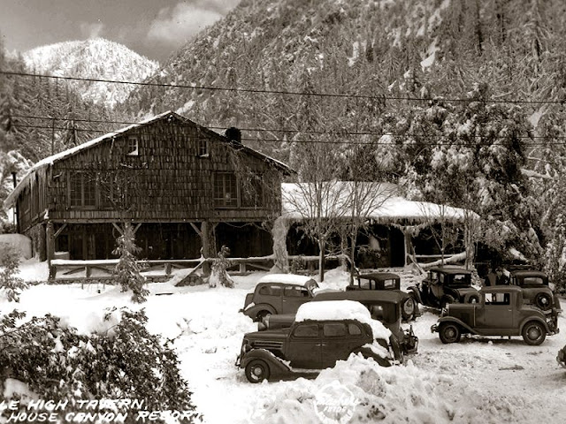 Mile High Tavern was part of the larger Icehouse Canyon Resort. This photo was taken in 1936.