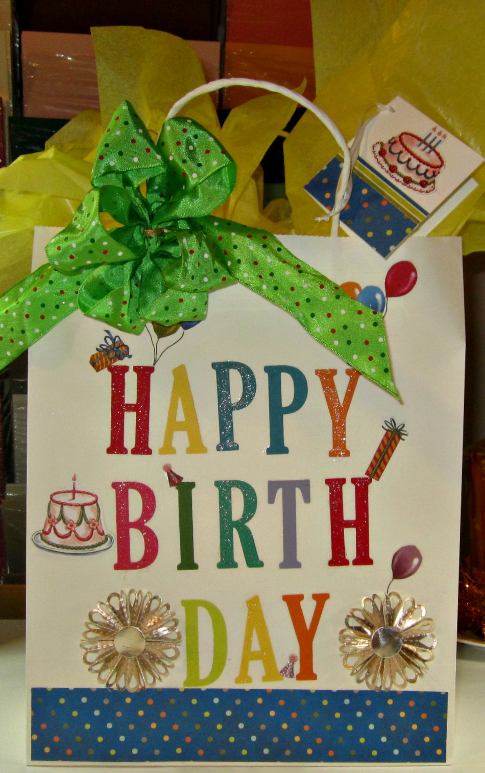 Crafty Marias Stamping World Decorated Birthday Gift Bag With Tag