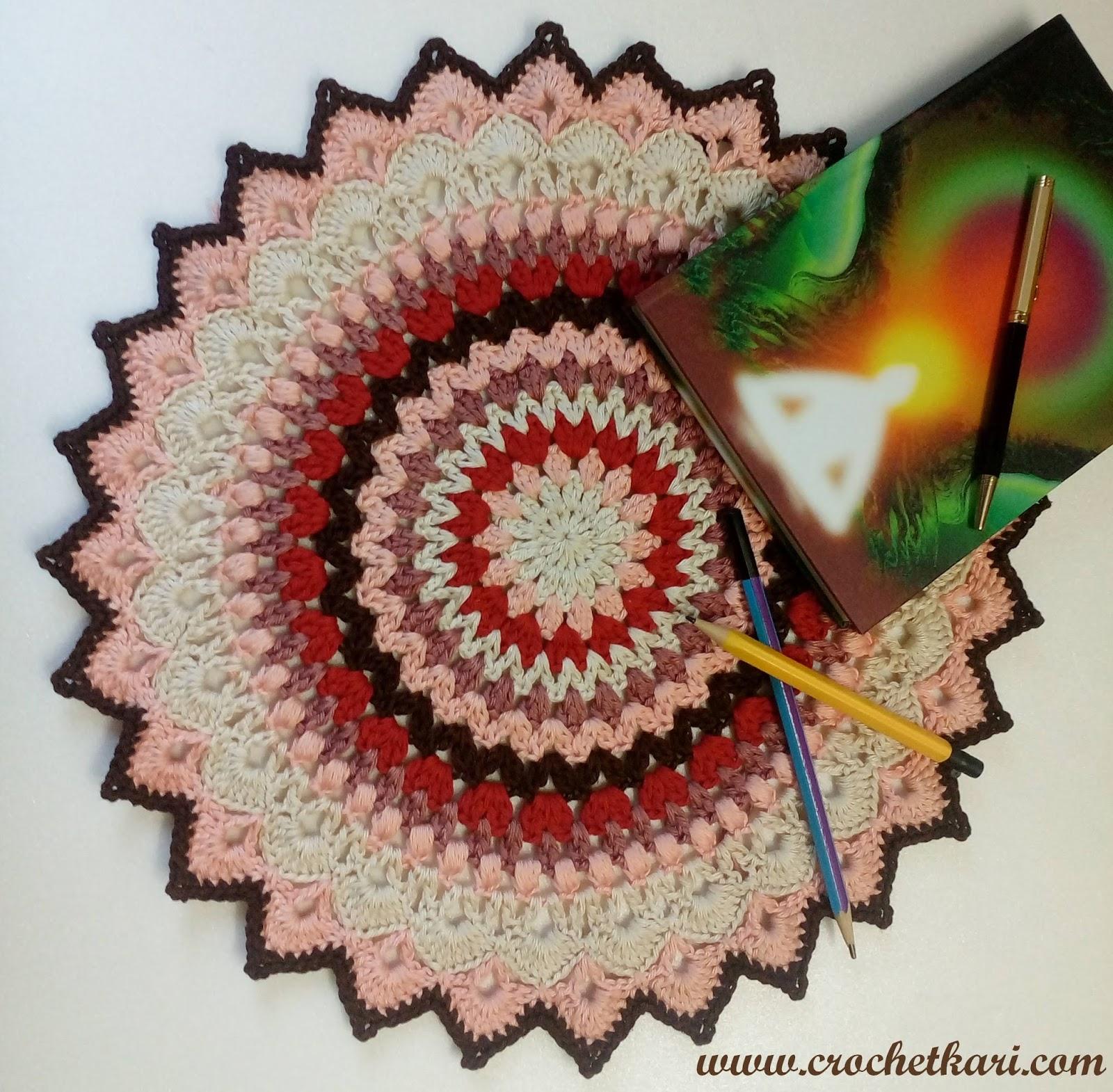 Crochetkari: Mandala mania 1 - Peachy brown