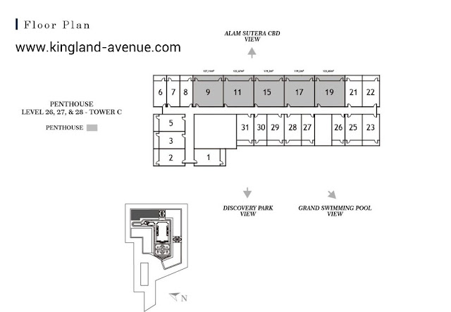 Floor Plan Kingland Avenue Serpong Penthouse Suite