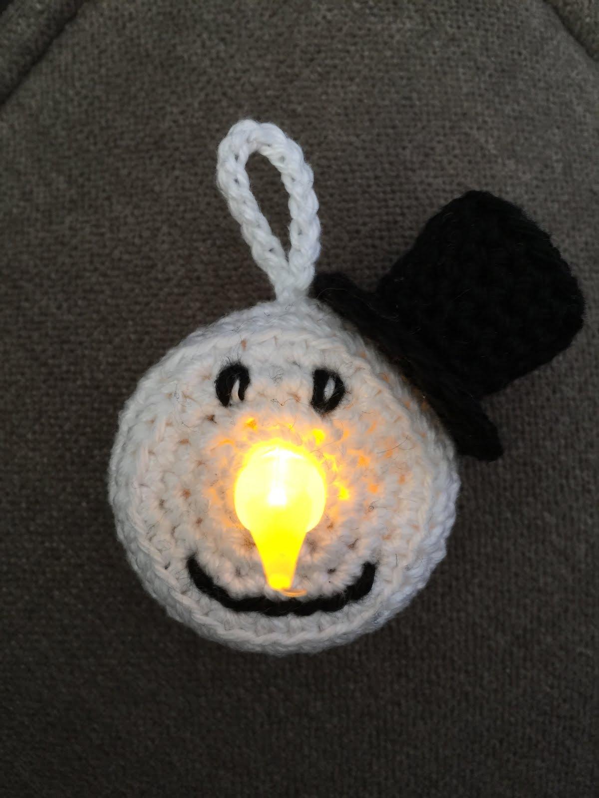 Anniegurumi Sneeuwpop Waxinelichtje
