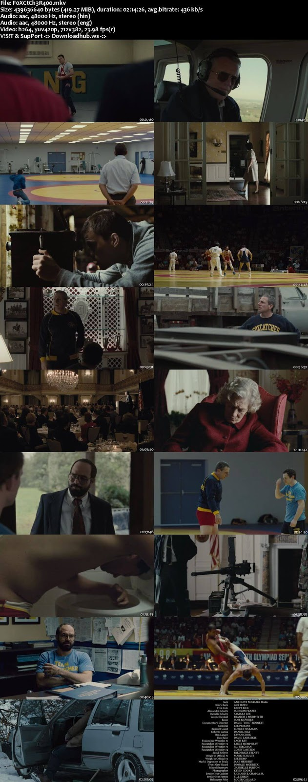 Foxcatcher 2014 Hindi Dual Audio 480p BluRay Free Download
