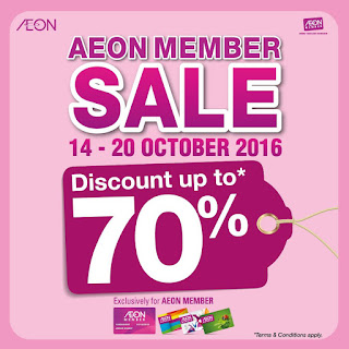 AEON Malaysia Member Sale Up to 70% Discount Offer