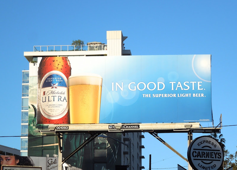 Michelob Ultra beer In Good Taste billboard