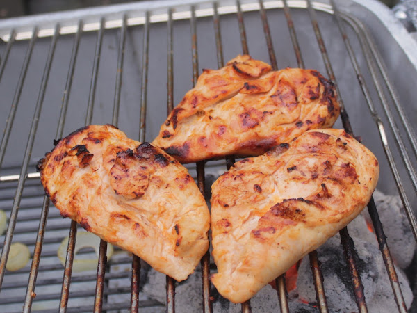 Two of my favorite things combine for deliciousness (Buffalo Pineapple grilled chicken)